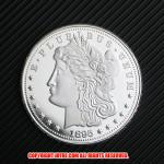 モルガン1ドル銀貨1895年プルーフ(レプリカコイン)