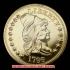 キャップド・バスト(右向き)スモールイーグル金貨1796年(レプリカコイン)の画像1