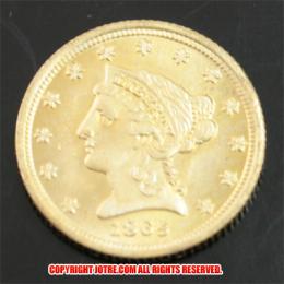 2.5ドルクォーターイーグル金貨1865年(レプリカコイン)