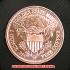 ドレイプト・バスト・ヘラルディック・イーグル コッパーコイン銅貨(レプリカコイン)の画像2