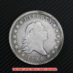 フローイング・ヘア・ダラー1ドル銀貨1794年(レプリカコイン)