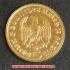 本物☆ナチスドイツ銀貨reichsmark5ライヒスマルクコイン(金貨風)金メッキ加工済み 通貨の画像4