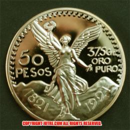 メキシカン 50ペソ 金貨(レプリカコイン)1921年 Mexican 50 Pesos