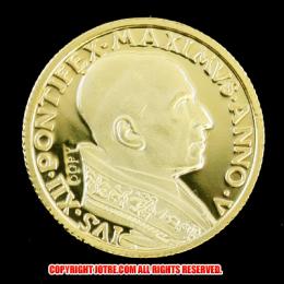 1943年 バチカン100リラゴールドコイン