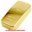 FINE GOLD 999.9 ファインゴールド ペーパーウエイト1000gレプリカ