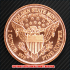 ウィングド・リバティ・ヘッド コッパーコイン 銅貨(レプリカ)の画像2