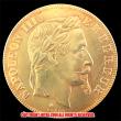 エンペラー ナポレオンIII 1966-A 50フラン金貨(レプリカコイン)