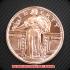 スタンディング・リバティ コッパーコイン 銅貨(レプリカ)の画像1