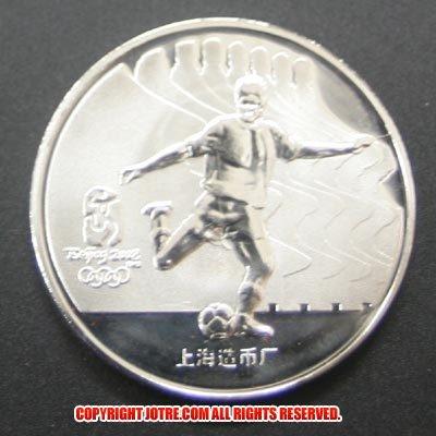 ▼ レプリカコイン☆北京オリンピック記念メダル サッカー