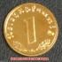 本物☆ナチスドイツ銀貨reichsreich1ライヒスペニヒコイン(金貨風)金メッキ加工済み 通貨の画像1