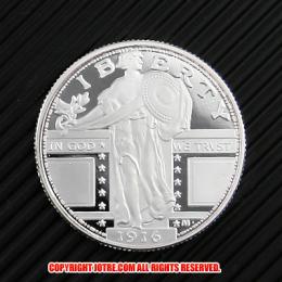 スタンディング・リバティ・クォーターダラー(タイプ1) 1916年(レプリカコイン)