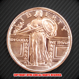 スタンディング・リバティ コッパーコイン 銅貨(レプリカ)