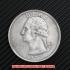 ワシントンクォーターダラー1932年銀貨1ドル(レプリカコイン)の画像1