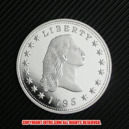 フローイング・ヘア・ダラー1ドル銀貨1795年プルーフ(レプリカコイン)