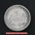 シーテッド・リバティ・ダラー1850年銀貨(レプリカコイン)の画像2