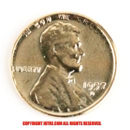 金鍍金 1セントコイン