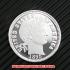 バーバー・ダイム10セント銀貨1895年(レプリカコイン)の画像1