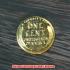 1セントコイン 金貨 レプリカの画像1