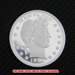 バーバー・クォーター・ダラー1901年銀貨(レプリカコイン)