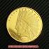 インディアンヘッド・イーグル・ゴールド10ドルコイン1909年プルーフ(レプリカコイン)の画像1