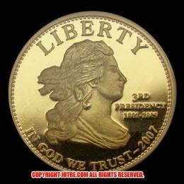 第3代大統領トーマスジェファーソン10ドル金貨(レプリカコイン)