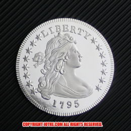 ドレイプト・バスト・スモール・イーグル・コイン銀貨1795年プルーフ(レプリカコイン)