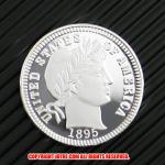 バーバー・ダイム10セント銀貨1895年(レプリカコイン)